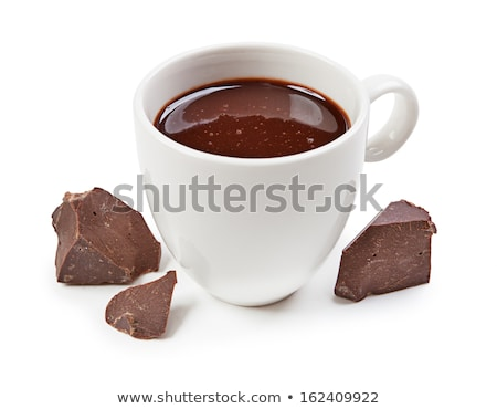 Saucer and cup with chocolate Stock photo © SRNR