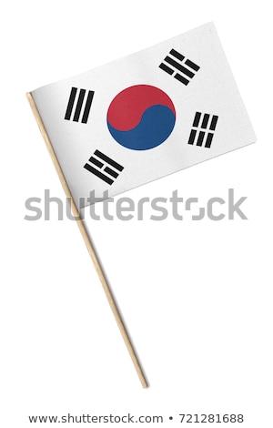miniatura · bandeira · Coréia · do · Sul · isolado - foto stock © bosphorus