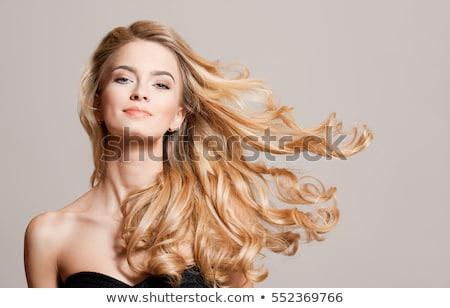 Vonzó nő, haj mozgásban Stock fotó © lithian