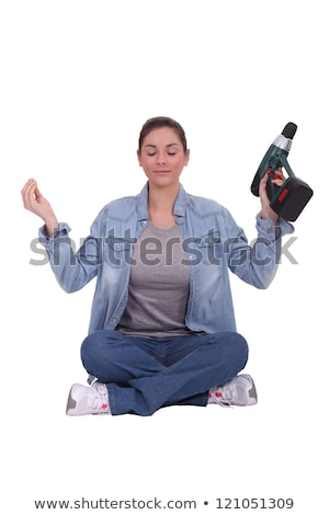 Tradeswoman meditating Stock photo © photography33