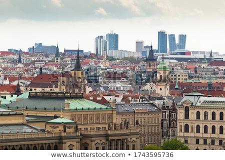 Architectuur Praag kruis Windows Europa dak Stockfoto © Sarkao