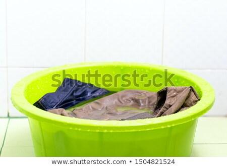 green basin isolated over white stock photo © shutswis