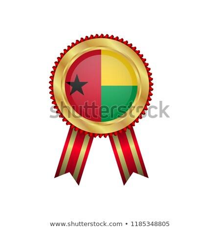 Gine · bayrak · beyaz · büyük · ayarlamak · soyut - stok fotoğraf © milsiart
