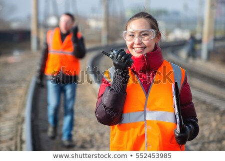 Male and female traffic workers Stock photo © photography33
