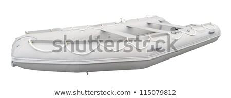 グレー インフレータブル ボート パス 孤立した 白 ストックフォト © ssuaphoto