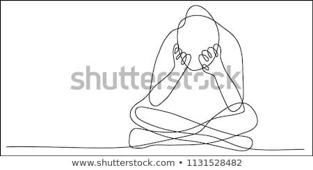 anxieux · homme · séance · président · attente · entretien · d'embauche - photo stock © smithore