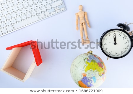 Stockfoto: Wereldbol · toetsenbord · computer · internet · wereld · technologie