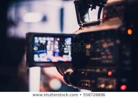 Videókamera öreg profi izolált technológia videó Stock fotó © Givaga