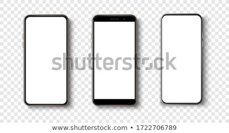 Smartphone cadre coupé vide écran internet Photo stock © szsz
