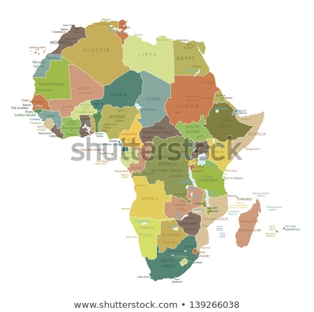 Africa map with Sudan Stock photo © Ustofre9