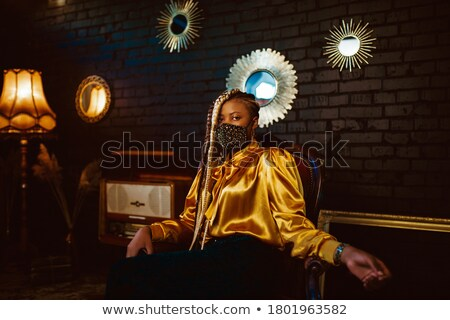 Elegant, bold lady in luxury room stock photo © konradbak