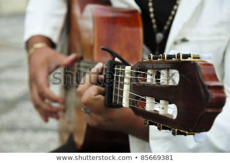 Hippie spanish guitar Stock photo © ABBPhoto