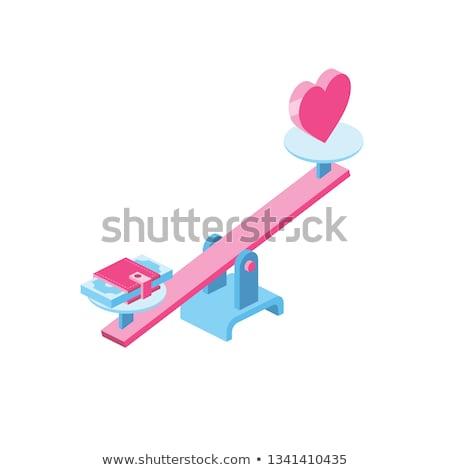 言葉 · 愛 · 赤 · 中心 · 3D · 3dのレンダリング - ストックフォト © dacasdo