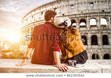Valentine Roma vektör grafik ayarlamak üç Stok fotoğraf © LittleLion