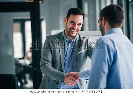 Biznesmen handshake strony działalności dłoni Zdjęcia stock © gemphoto