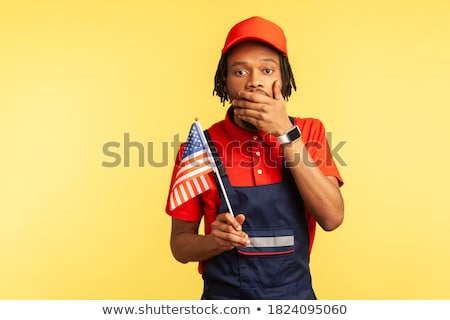Kézműves rázkódás arc férfi jókedv piros Stock fotó © photography33