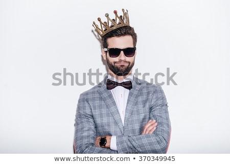 Сток-фото: моде · выстрел · элегантный · молодым · человеком · костюм