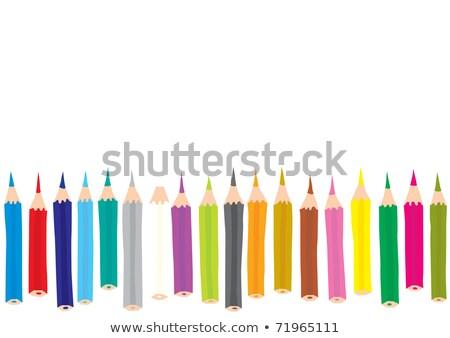 Colored Pencil Lineup Stock photo © ArenaCreative