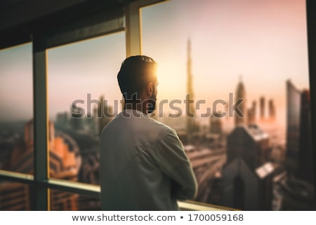 Skyline seen from a window Stock photo © zzve