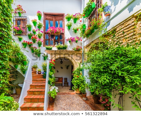 veranda · İspanya · bahçe · binalar · mimari · bitki - stok fotoğraf © phbcz