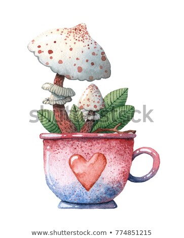Red Mushroom Cup  Stock photo © chatchai