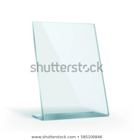 cam · ödül · plaka · yalıtılmış · beyaz · pencere - stok fotoğraf © cherezoff