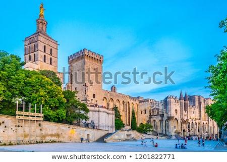 Streets of old Avignon, France Stock photo © dinozzaver
