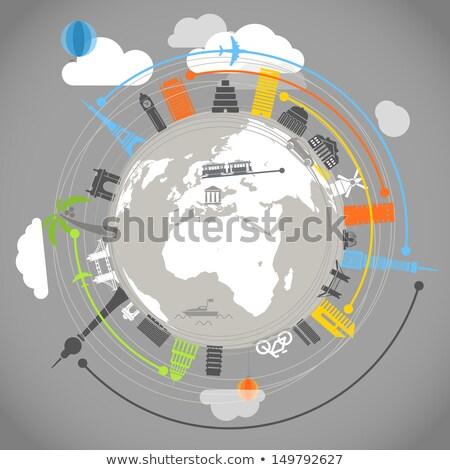 Globo vistas viajar diferente países Foto stock © mayboro