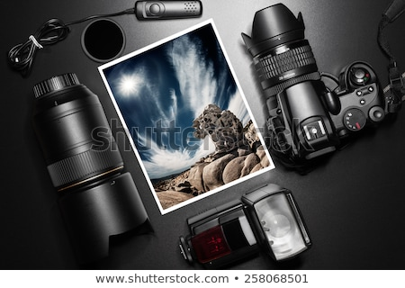 photography concept with camera lense and copyspace  Stock photo © REDPIXEL