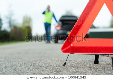 Panneau de signalisation urgence téléphone route signe bleu Photo stock © Ustofre9
