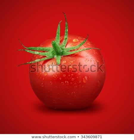 Сток-фото: зеленый · томатный · красный · мнение · зрелый