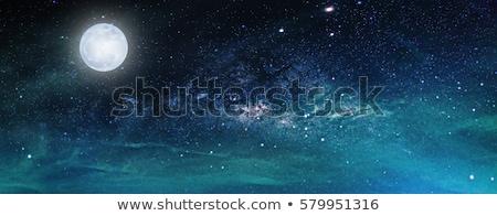Night Sky Moon over the Sea Stock photo © ankarb