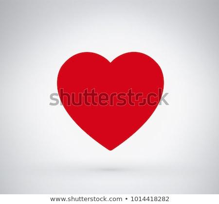 Сток-фото: несколько · Кнопки · красный · формы · сердца · изолированный · белый