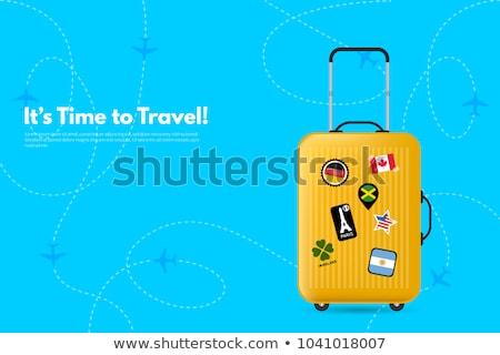Argentinië reizen bagage vlag vakantie vector Stockfoto © gubh83