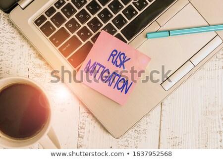 empresa · gestão · de · risco · 3d · render · azul · seta · indicação - foto stock © tashatuvango