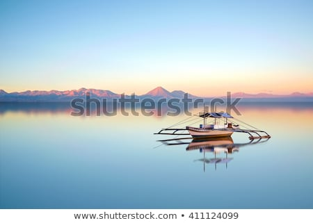 Stockfoto: Mooie · Blauw · schemering · zonsondergang · Filippijnen · roze