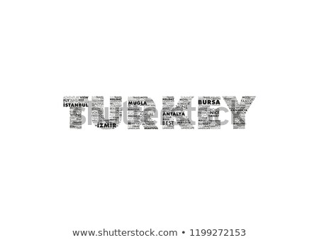 Stock photo: cities of Turkey in word clouds