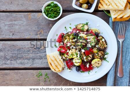 Salada grelhado vegetal feta comida tomates Foto stock © M-studio