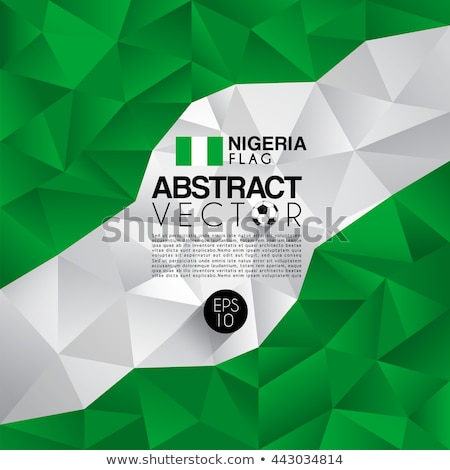 Nijerya bayrak fikir dizayn doku Stok fotoğraf © kiddaikiddee