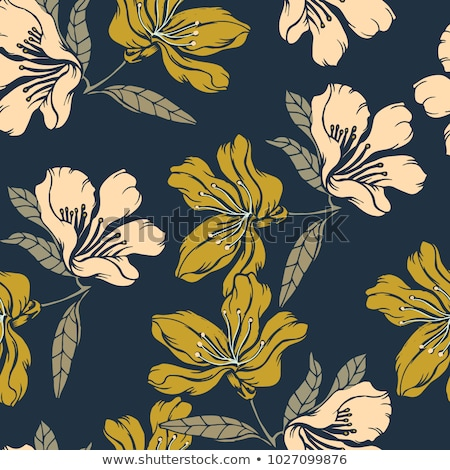 Seamless decorative floral pattern with clover  Stock photo © elenapro