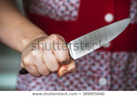 Mulher faca retrato sangue preto mão Foto stock © 26kot