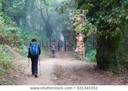 Viaje manera iglesia colina sol paisaje Foto stock © hraska