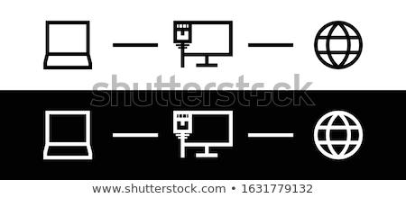 Lan verbinding computer technologie kabel Stockfoto © OleksandrO