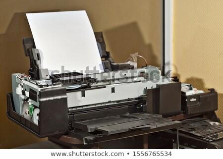 Vieux machine électronique modernes travaux Photo stock © konradbak