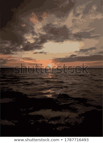 Landscape of sunset over lake Stock photo © Yongkiet