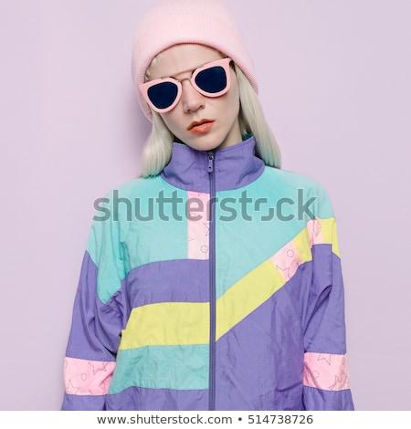 Lovely Blond Lady in Pink Jacket Stock photo © fouroaks