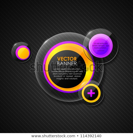 Abstract background with violet glossy bubble Stock photo © punsayaporn