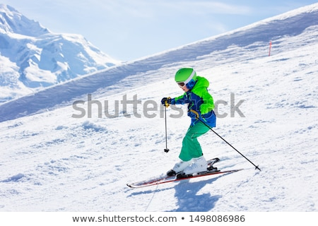 Ski slopes in little snow year Stock photo © BSANI