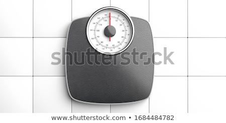 Floor scales on  white background. Isolated 3D image stock photo © ISerg