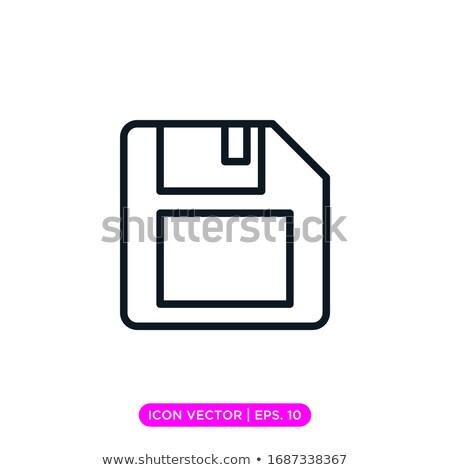 magnético · disco · ícone · computador · armazenamento · de · dados · negócio - foto stock © smoki